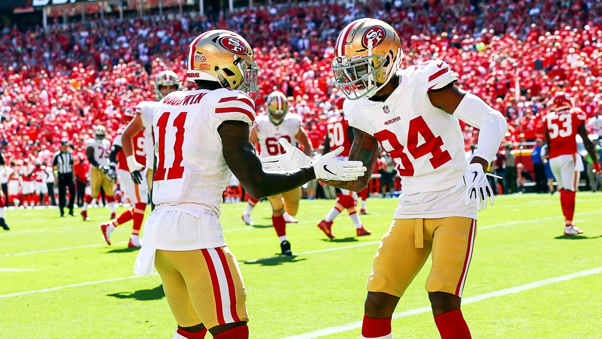 reputable site ad0e8 9eb75 NASA celebration inspired by 49ers players Marquise Goodwin ...