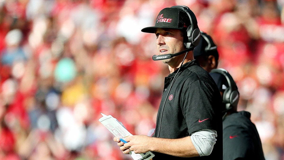 Kyle Shanahan discusses the 49ers' attempts to acquire ...