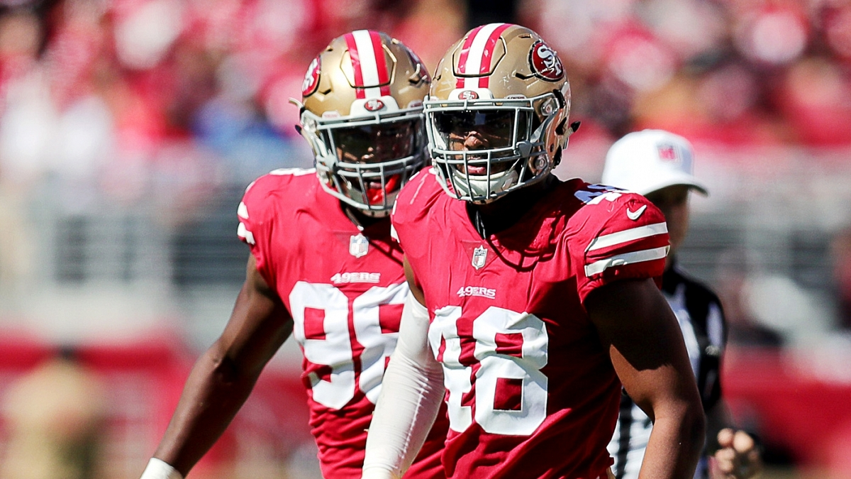 quality design 08b5f c1282 Fred Warner switches to No. 54 and several new 49ers pick ...