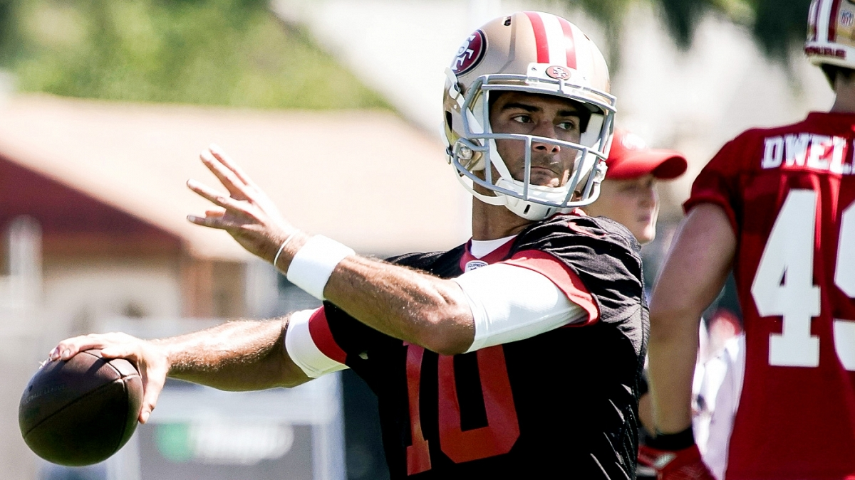 1dcb7747 49ers' Jimmy Garoppolo on his knee: